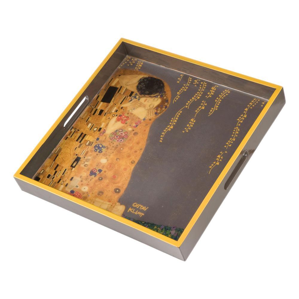 Goebel Artis Orbis Der Kuss Tablett Holztablett Serviertablett Gustav Klimt 37cm
