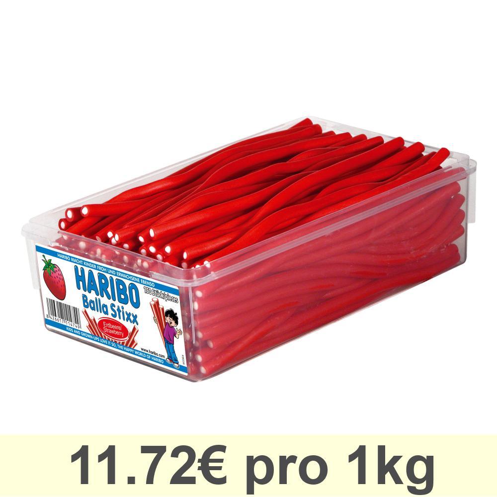 Haribo Balla Stixx (ehem. Balla Balla) Erdbeere Fruchtgummi 150 Stück 1125g Dose