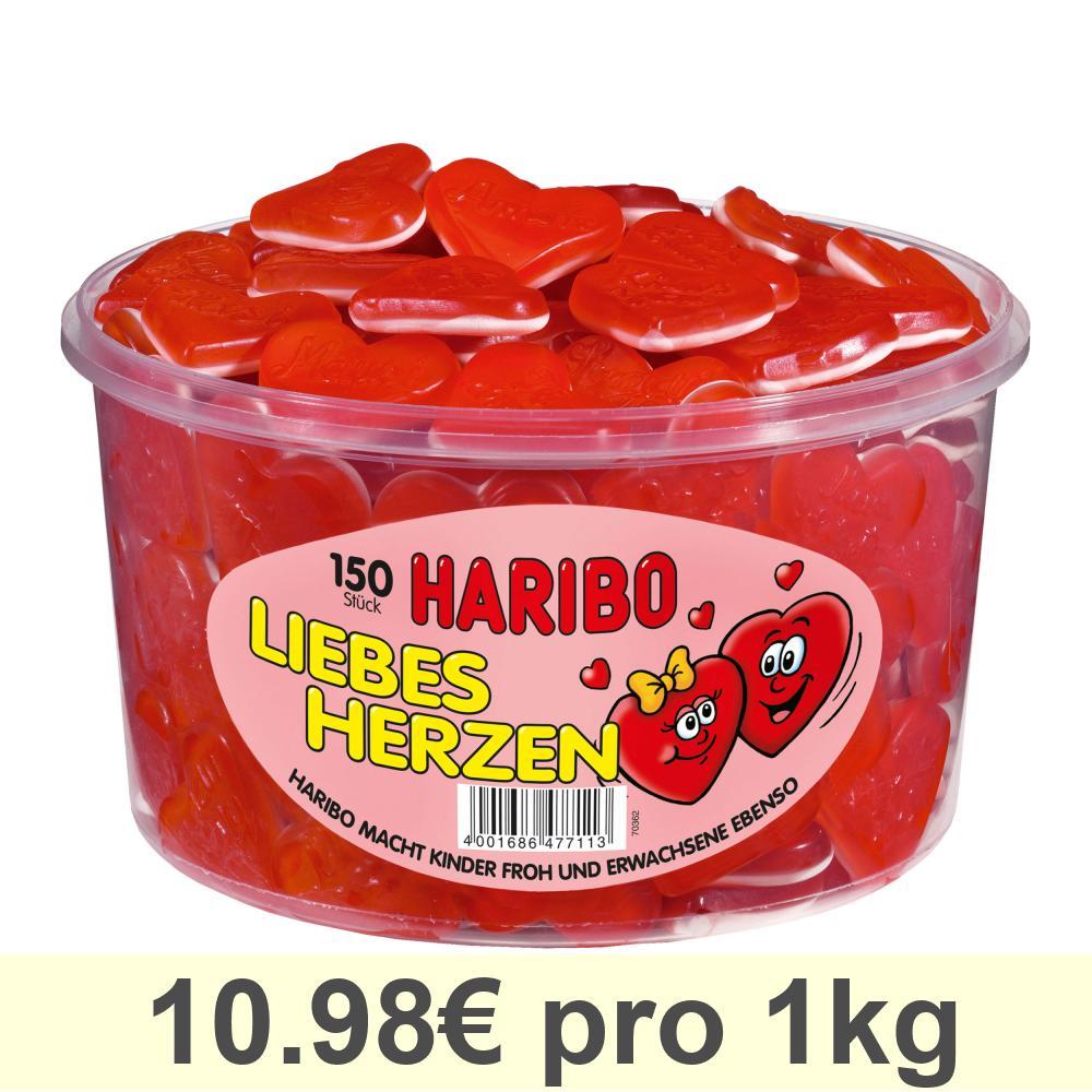 Haribo-Liebesherzen-Gummibaerchen-Weingummi-Fruchtgummi-150-Stueck-1200g-Dose