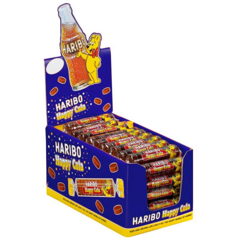 Haribo Roulette Happy Cola Gummibärchen Weingummi Fruchtgummi 50 Rollen á 25 g
