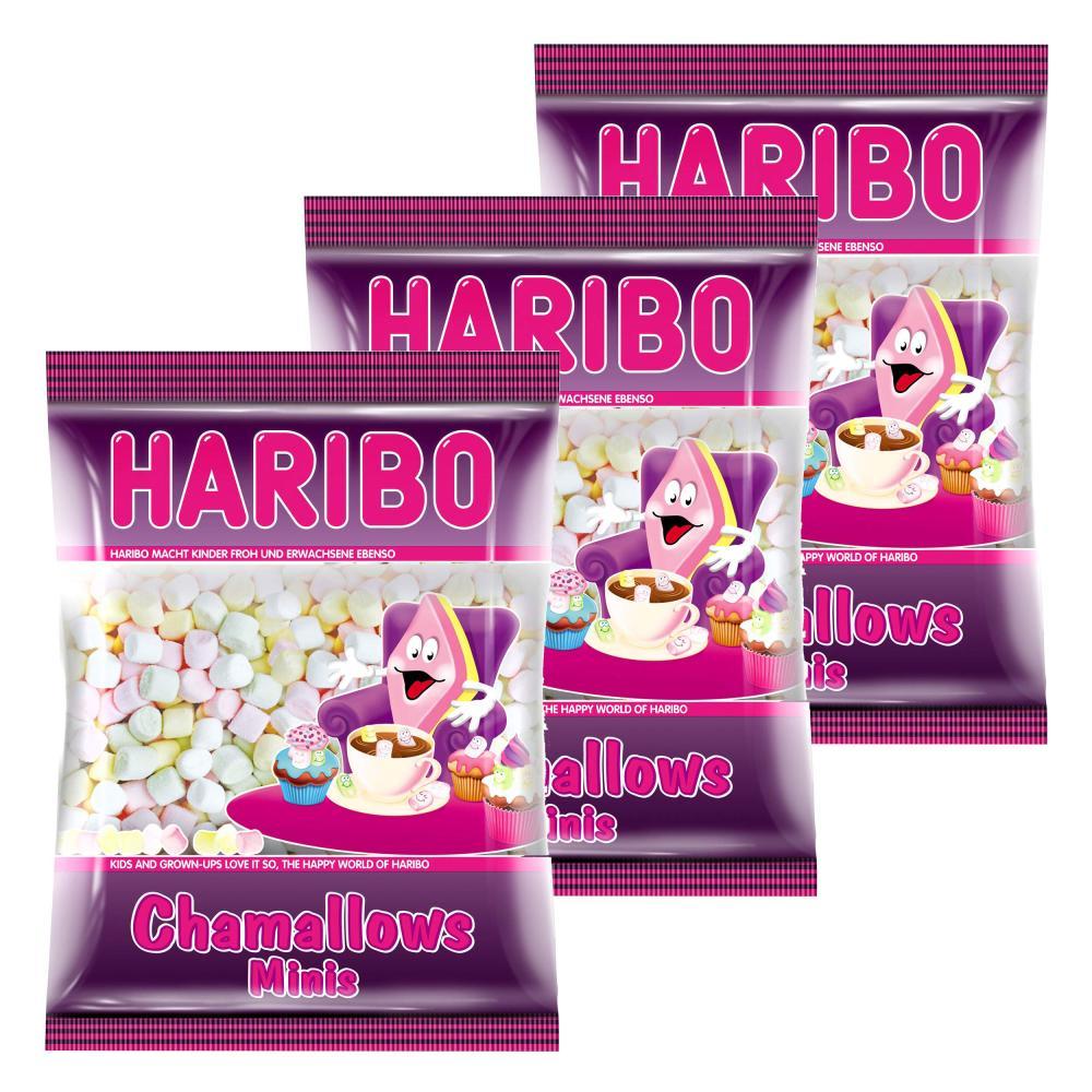 Haribo Chamallows Minis 3er Schaumzucker Marshmallows Mausespeck 200 g