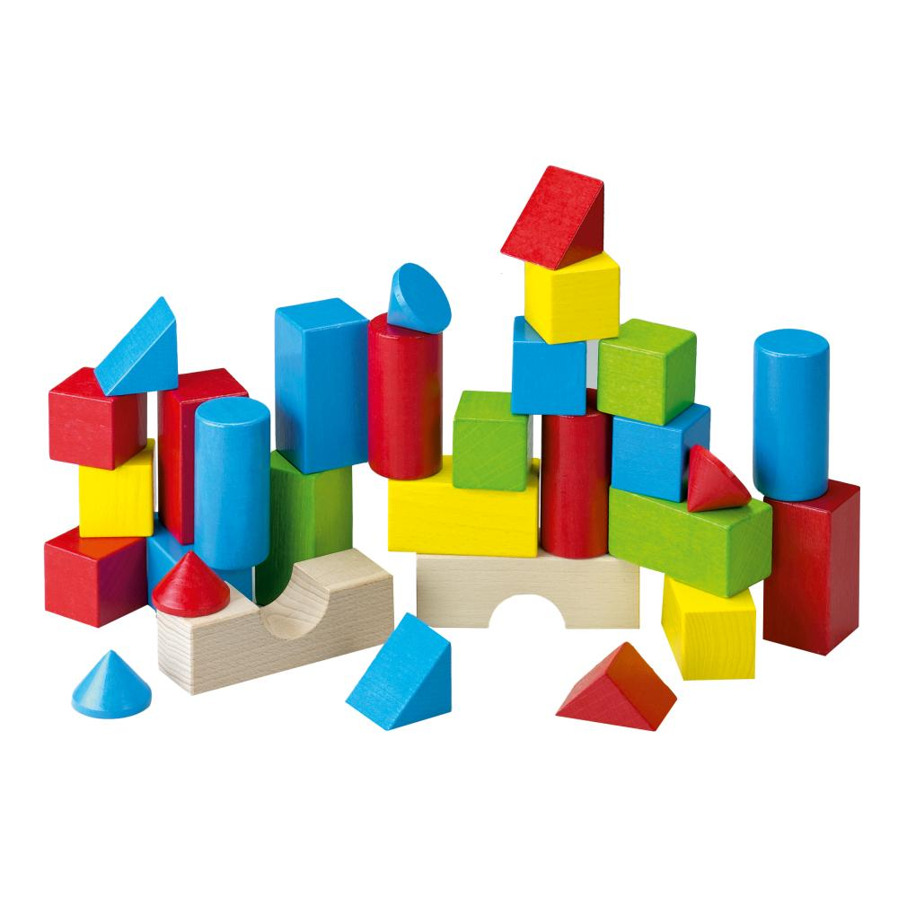 Details about HABA Coloured Building Blocks, 30-Part, Wooden Bricks, Toy  Block, Beech Wood
