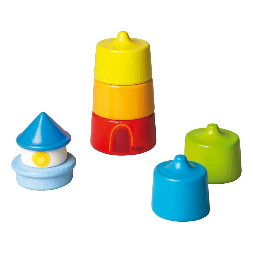 HABA Stacking Game Lighthouse Beacon 6-Part Stackable for Ch