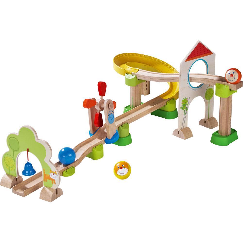 HABA-SFERA-ferroviario-kullerbu-spirale-in-dissolvenza-ferrovia-25-pezzi-MURMEL-treno-ferrovia-SFERA miniatura 2