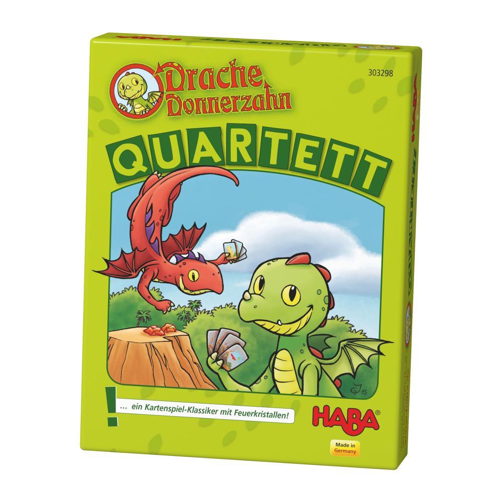 HABA-Drago-Tuono-dente-quartetto-Bambini-Giochi-Bambini-Giochi-Gioco-di-Carte-GIOCATTOLI