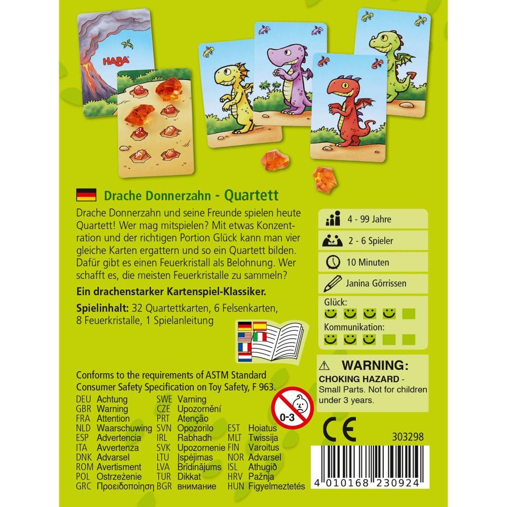 HABA-Drago-Tuono-dente-quartetto-Bambini-Giochi-Bambini-Giochi-Gioco-di-Carte-GIOCATTOLI miniatura 3