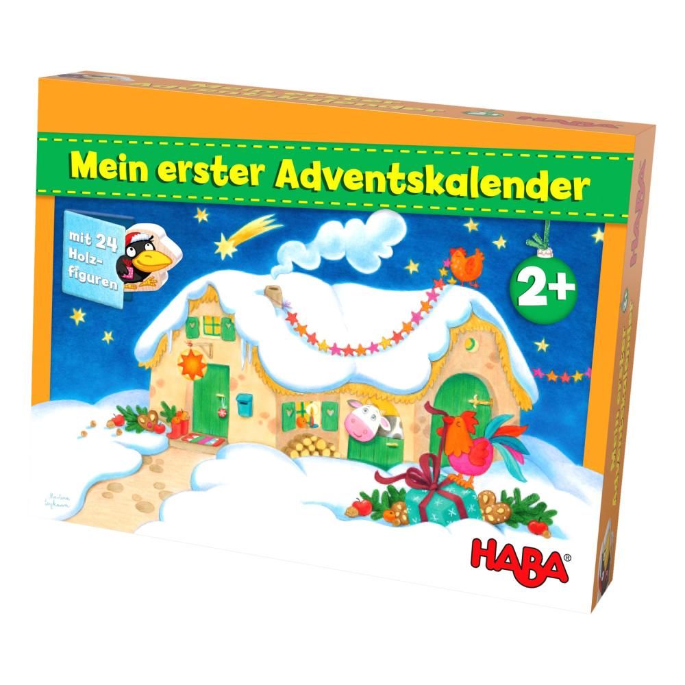 HABA-Mein-Erster-Adventskalender-Bauernhof-Weihnachten-Spielfiguren-Tiere-Holz