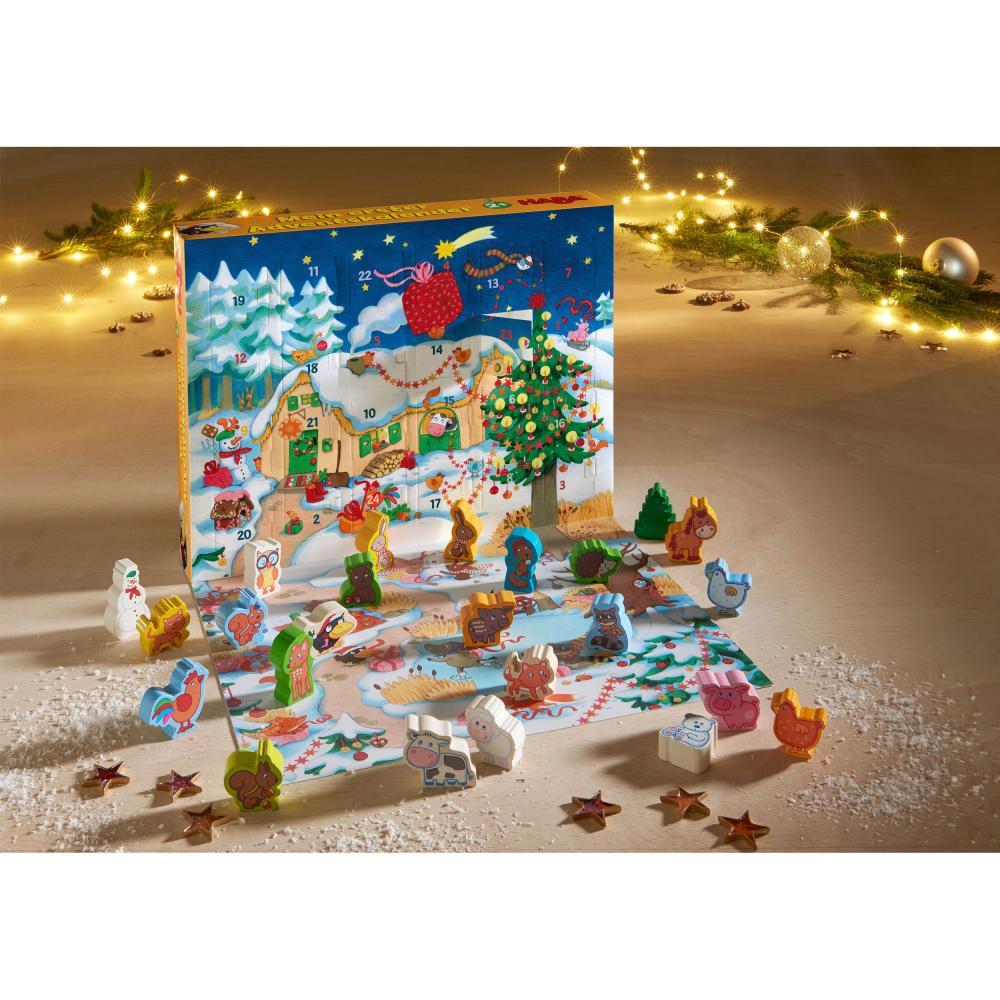 HABA-Mein-Erster-Adventskalender-Bauernhof-Weihnachten-Spielfiguren-Tiere-Holz Indexbild 2