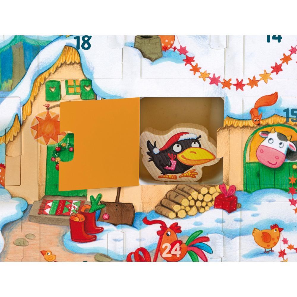 HABA-Mein-Erster-Adventskalender-Bauernhof-Weihnachten-Spielfiguren-Tiere-Holz Indexbild 3