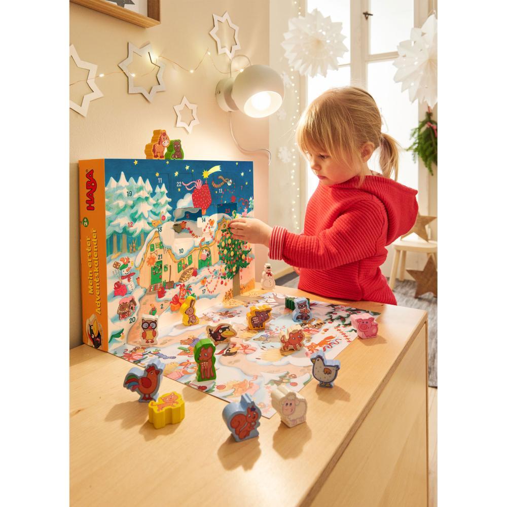 HABA-Mein-Erster-Adventskalender-Bauernhof-Weihnachten-Spielfiguren-Tiere-Holz Indexbild 4