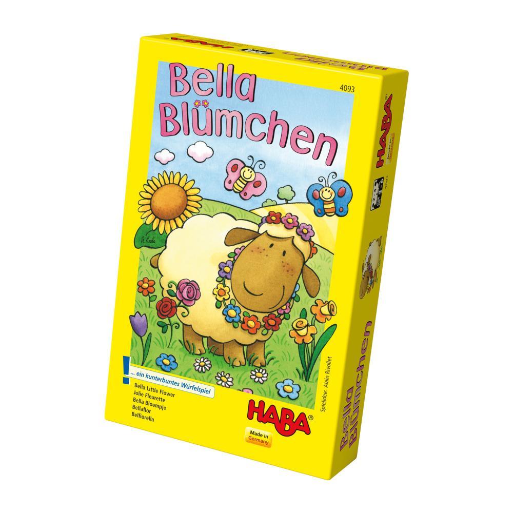 HABA-Bella-Bluemchen-28-tlg-Kinderspiel-Wuerfelspiel-Spiele-Spielzeug-4093 Indexbild 2