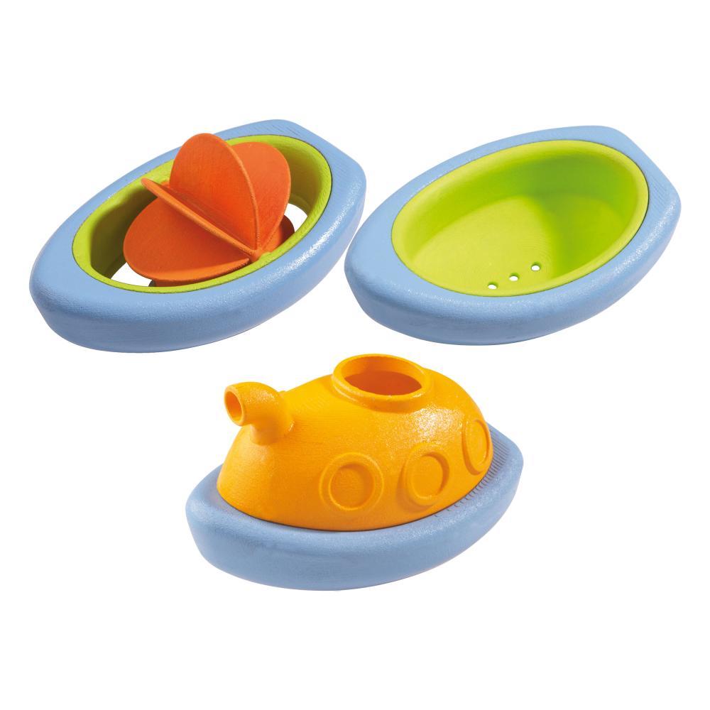 Haba badeschiffe-set 3 piezas de agua juguete barcos juguetes badewannenschiffe