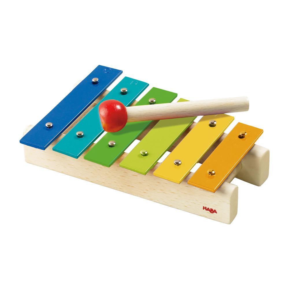 miniatura 2 - HABA metallophon BAMBINI XILOFONO campane strumento gioco giocattolo 5990