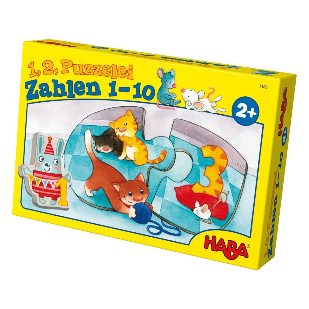 HABA-1-2-Puzzelei-Zahlen-1-10-20-tlg-Kinderpuzzle-Kinder-Puzzle-Spiele-Spielzeug