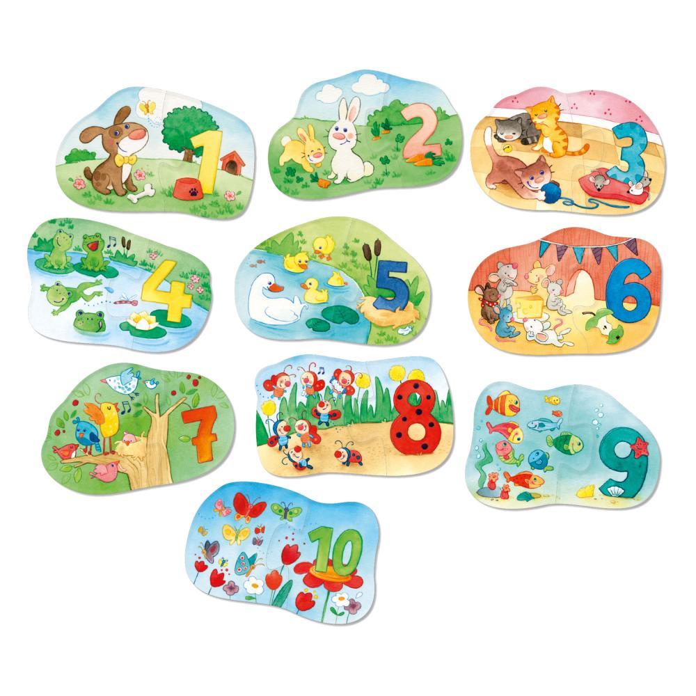 HABA-1-2-Puzzelei-Zahlen-1-10-20-tlg-Kinderpuzzle-Kinder-Puzzle-Spiele-Spielzeug Indexbild 2