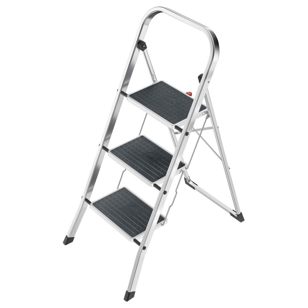 Hailo K60 StandardLine Trittleiter 3 Stufen Alu Leiter Klappleiter Aluminium