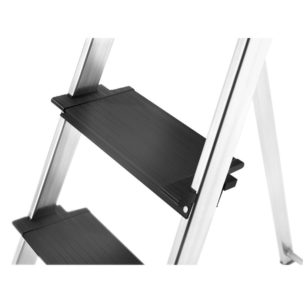 Hailo L100 TopLine Stehleiter 4 Stufen Steh Leiter Alu Klappleiter Aluminium