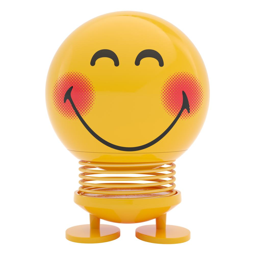 100% Vero Hoptimist Smile Blush Emoticon Wackelfigur Decorazione/idea Gioco 9121-20 In Plastica-
