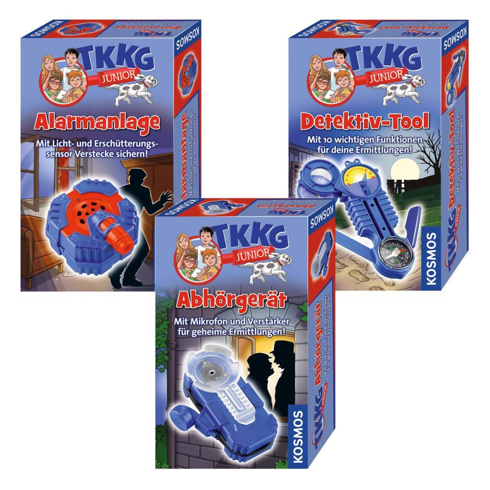 KOSMOS-TKKG-Detektivset-Alarmanlage-Detektivtool-Gratis-Abhoergeraet-3-tlg