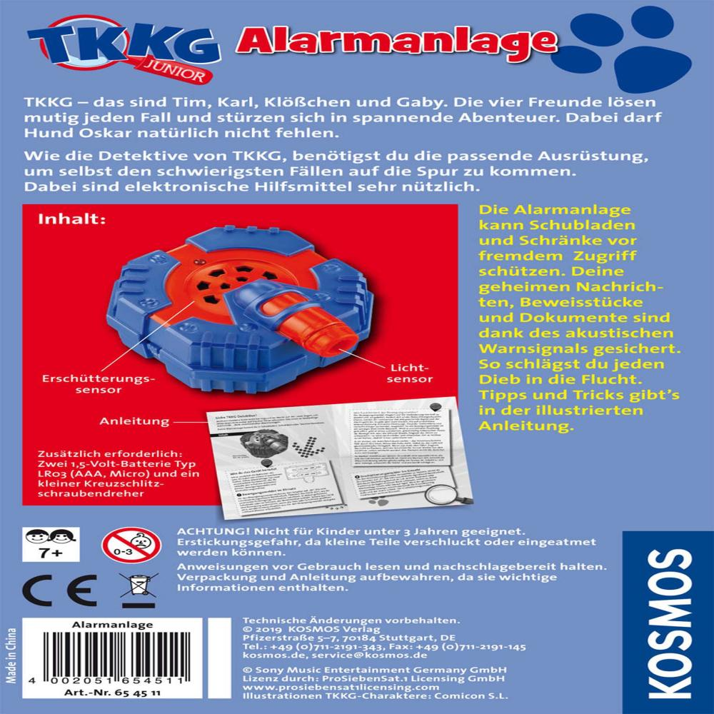 KOSMOS-TKKG-Detektivset-Alarmanlage-Detektivtool-Gratis-Abhoergeraet-3-tlg Indexbild 6