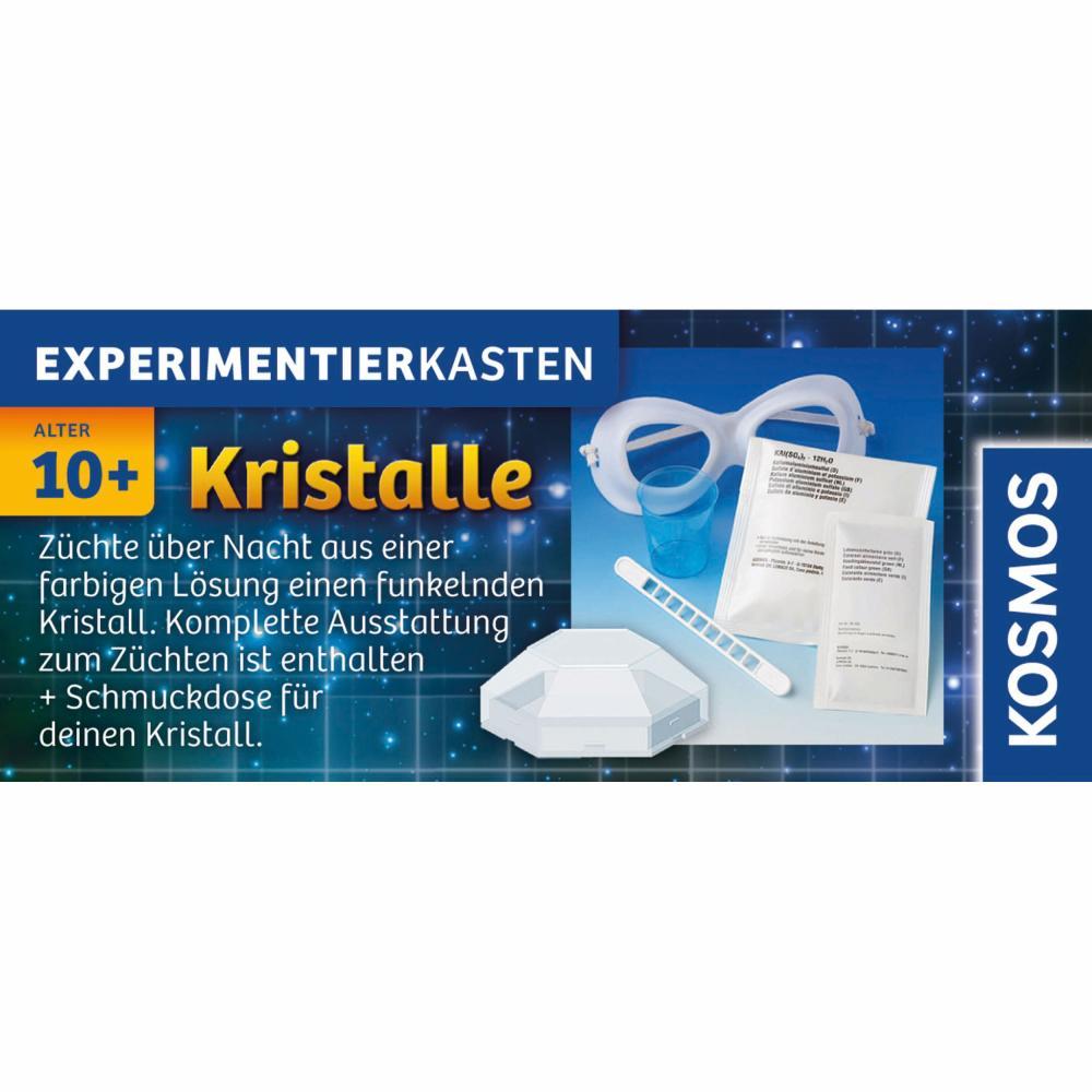 KOSMOS Experimentierkästen Kristalle Blau Experimente Kristallzucht ab 10 656034