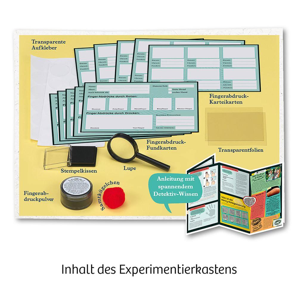 Indexbild 3 - KOSMOS Finger-Abdrücke Detektiv-Experimente Experimentierkasten ab 8 Jahren
