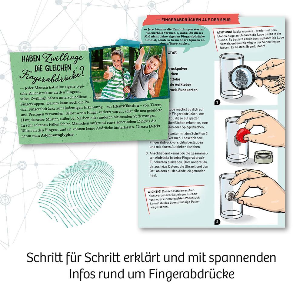 Indexbild 5 - KOSMOS Finger-Abdrücke Detektiv-Experimente Experimentierkasten ab 8 Jahren