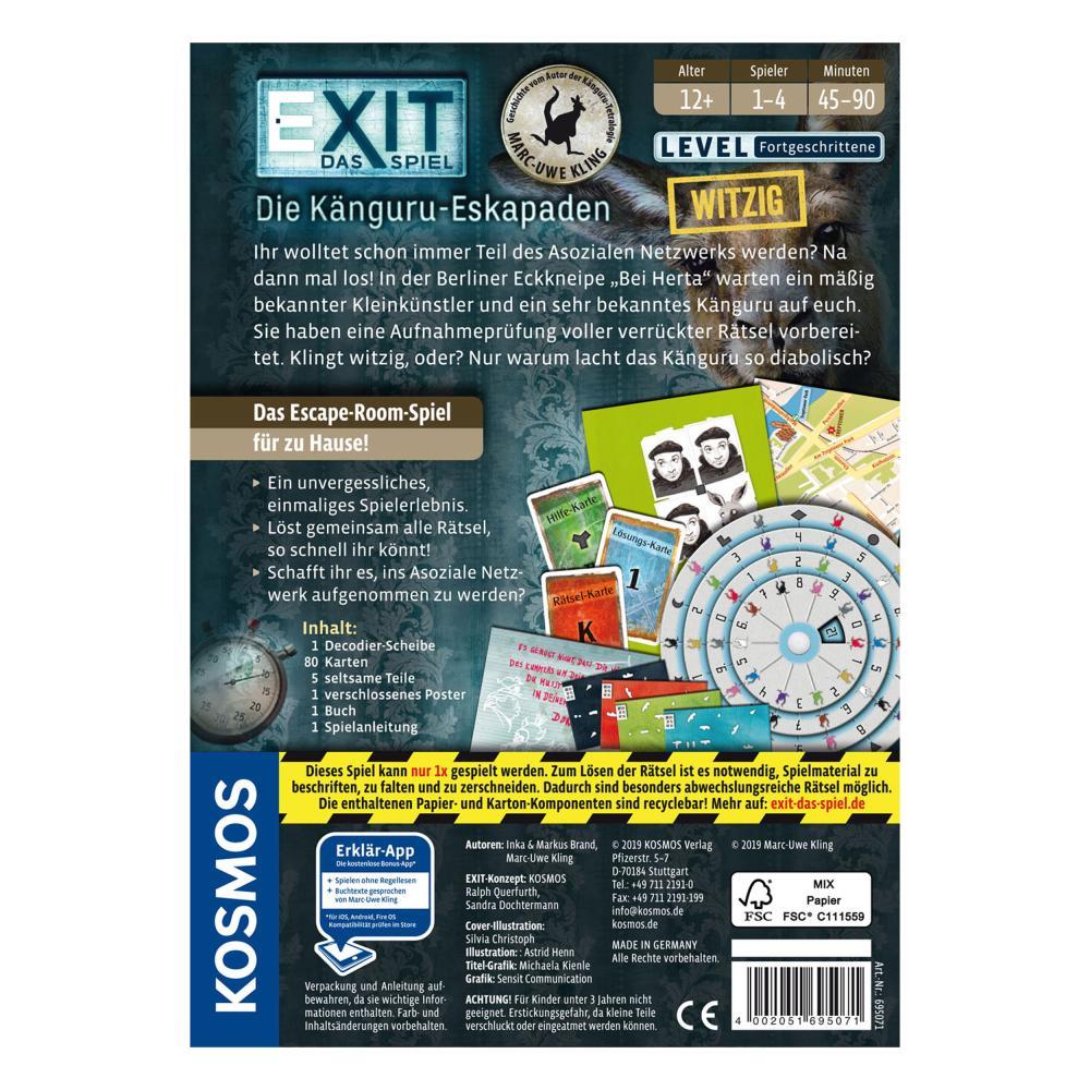 KOSMOS-Exit-Das-Spiel-Die-Kaenguru-Eskapaden-Escape-Room-Fortgeschrittene-ab-12J Indexbild 2