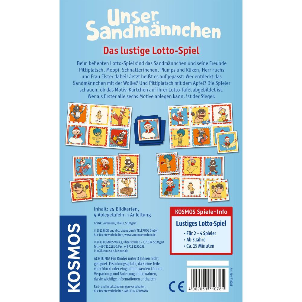 Indexbild 3 - KOSMOS Kinderspiele Unser Sandmännchen Karten Spiel Lotto-Spiel  ab 3 J. 710781