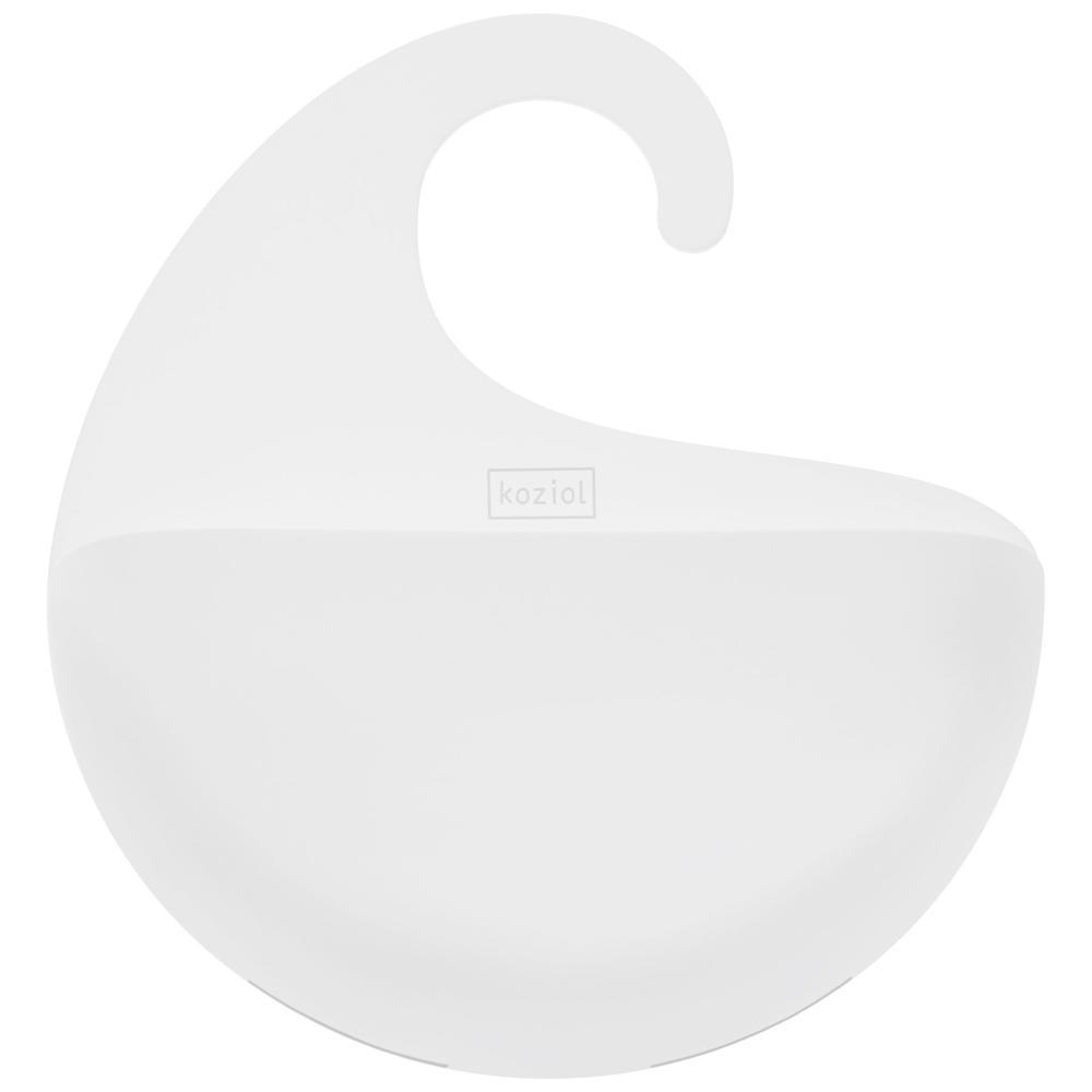 Koziol Surf M Utensilo mit Henkel Aufbewahrungseinheit Körbchen Solid Weiß
