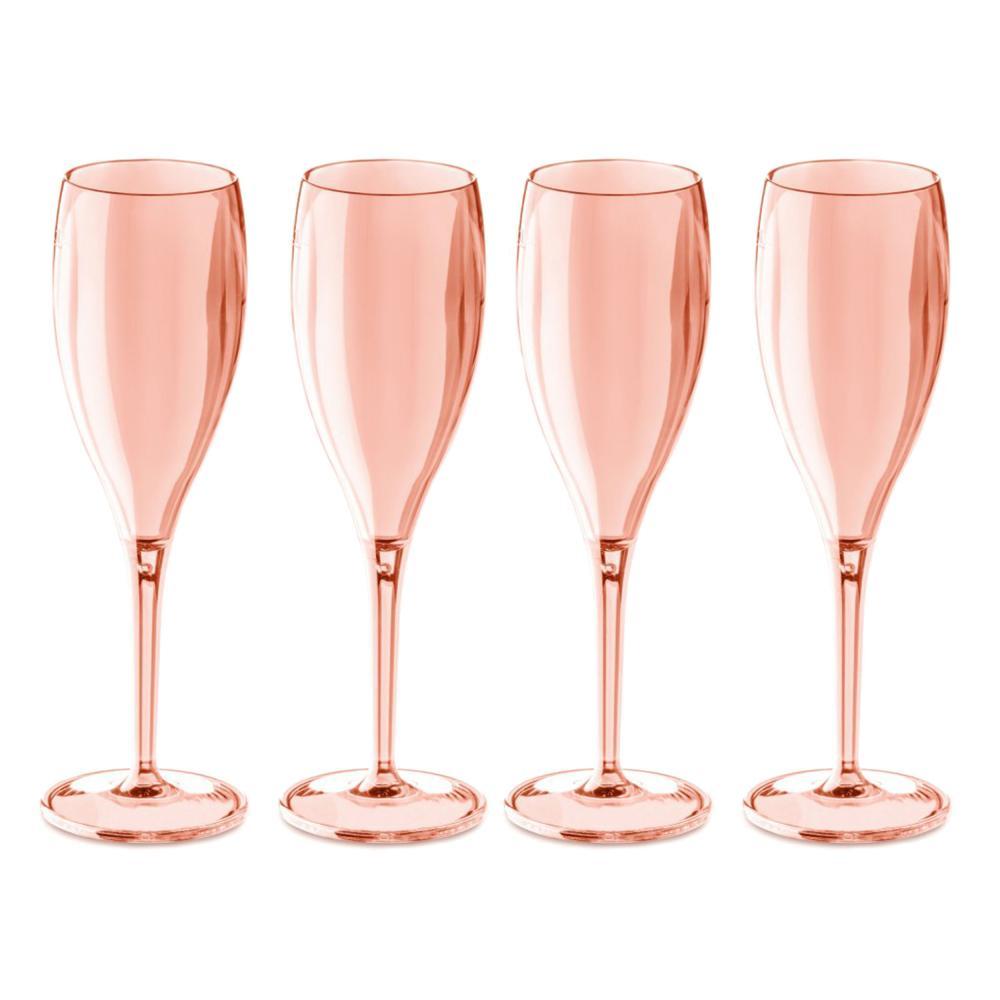 Koziol-Cheers-No-1-Sektglas-4er-Set-Champagnerglas-Transparent-Rose-Quartz-100