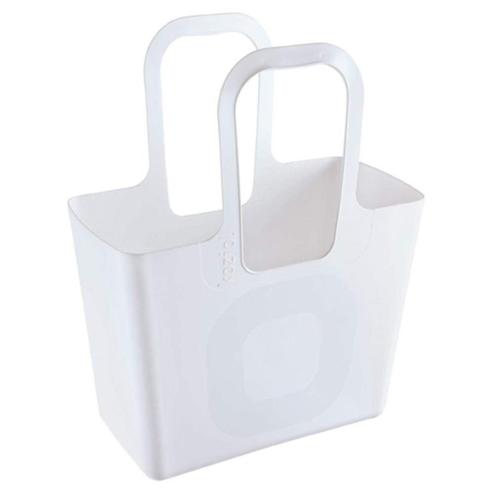 Koziol-Tasche-XL-Kunststofftasche-Einkaufstasche-Tragetasche-Solid-Weiss