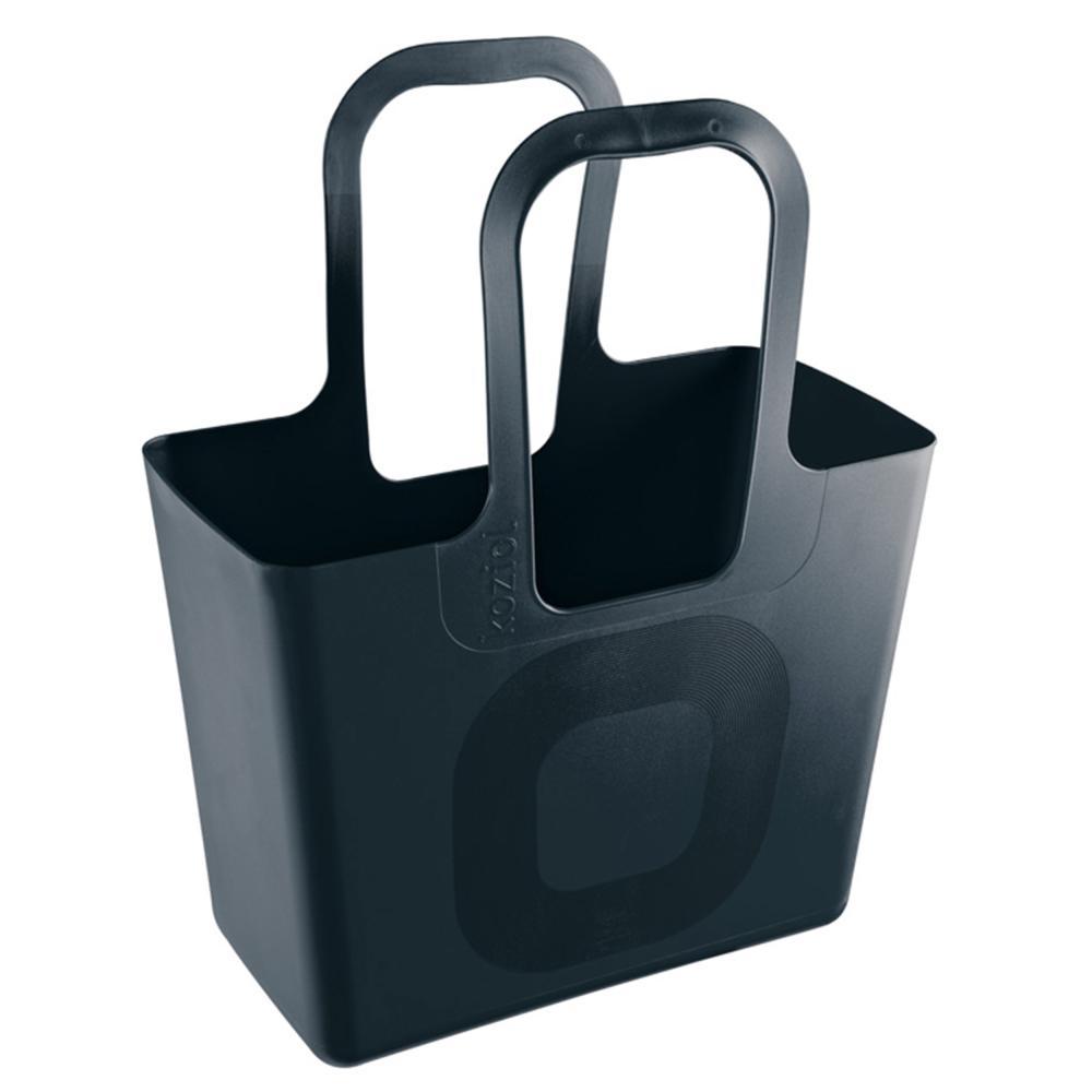 Koziol-Tasche-XL-Kunststofftasche-Einkaufstasche-Tragetasche-Solid-Schwarz