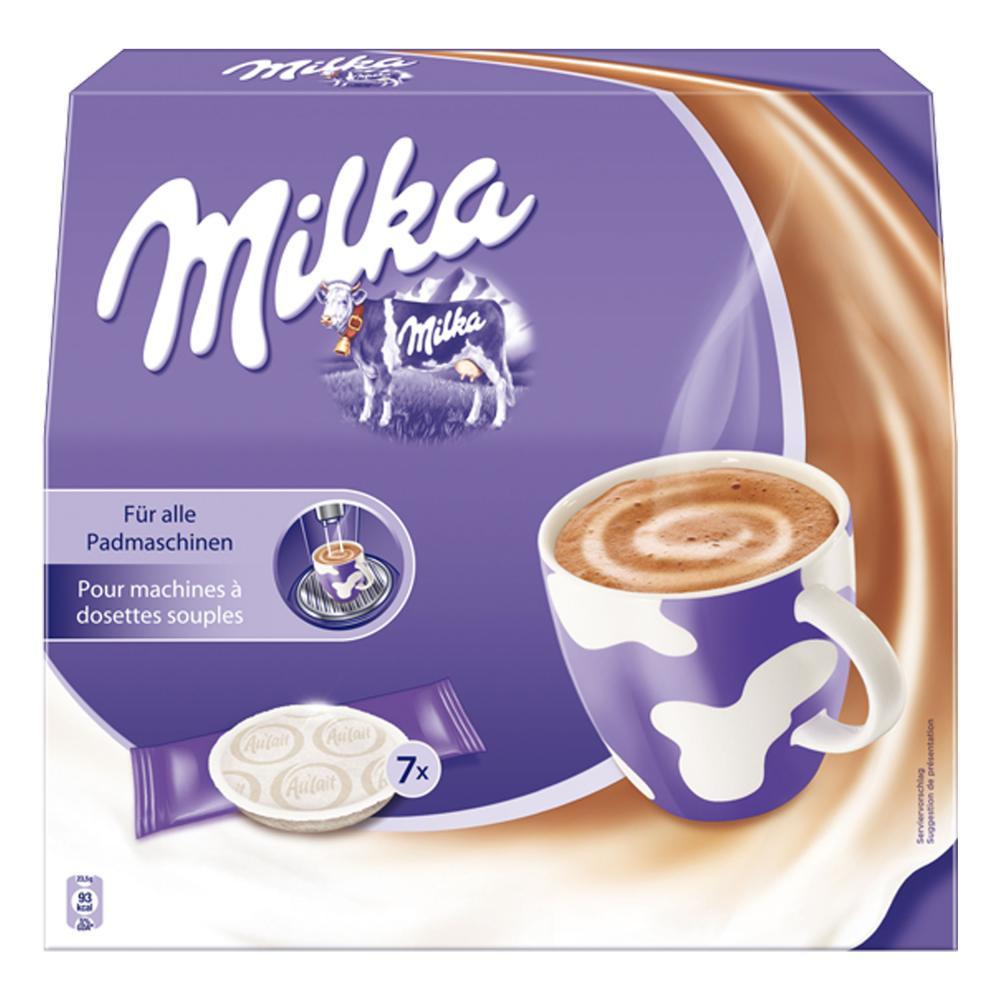 Milka-per-Macchine-a-Cialde-Cioccolata-Calda-Caffe-2-x-7-Pads-7-Sticks miniatura 2
