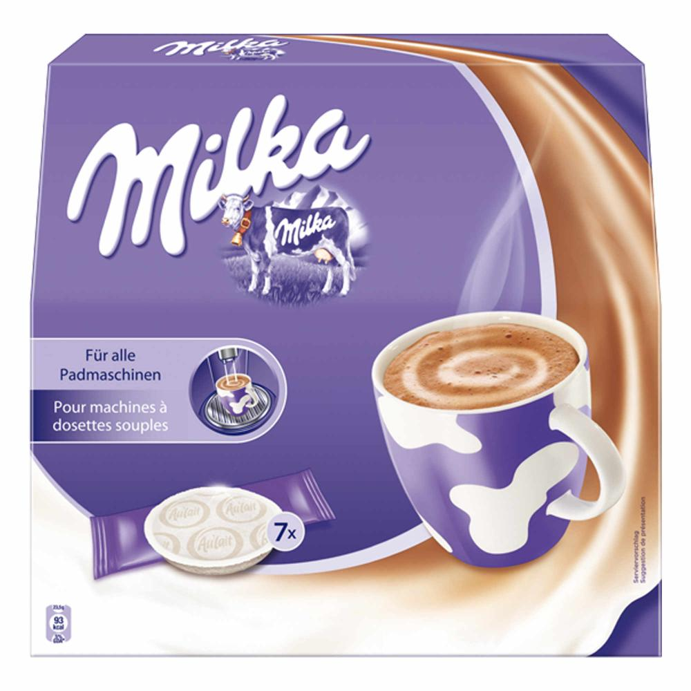 Milka-per-Macchine-a-Cialde-Cioccolata-Calda-Caffe-2-x-7-Pads-7-Sticks miniatura 3