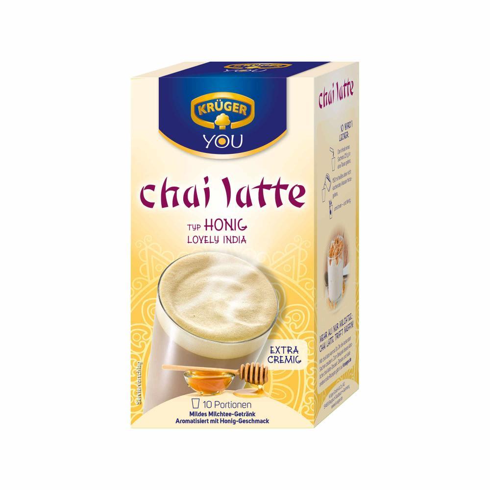 Kruger-Chai-Latte-Lovely-India-Miel-Boisson-Douce-a-Base-de-Lait-4-x-10-Sachets miniature 3