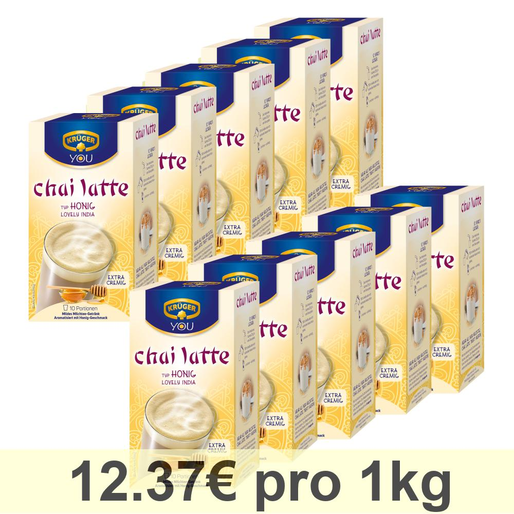 Kruger-Chai-Latte-Lovely-India-Miel-Boisson-Douce-a-Base-de-Lait-10-x-10-Sachets