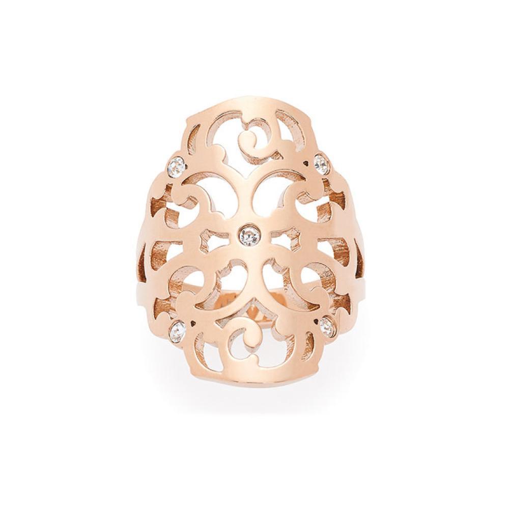 Leonardo-Jewels-ARABESCO-Ring-Stainless-Steel-Ring-Ladies-Ring-Finger-Ring-Gold-Color-gr18