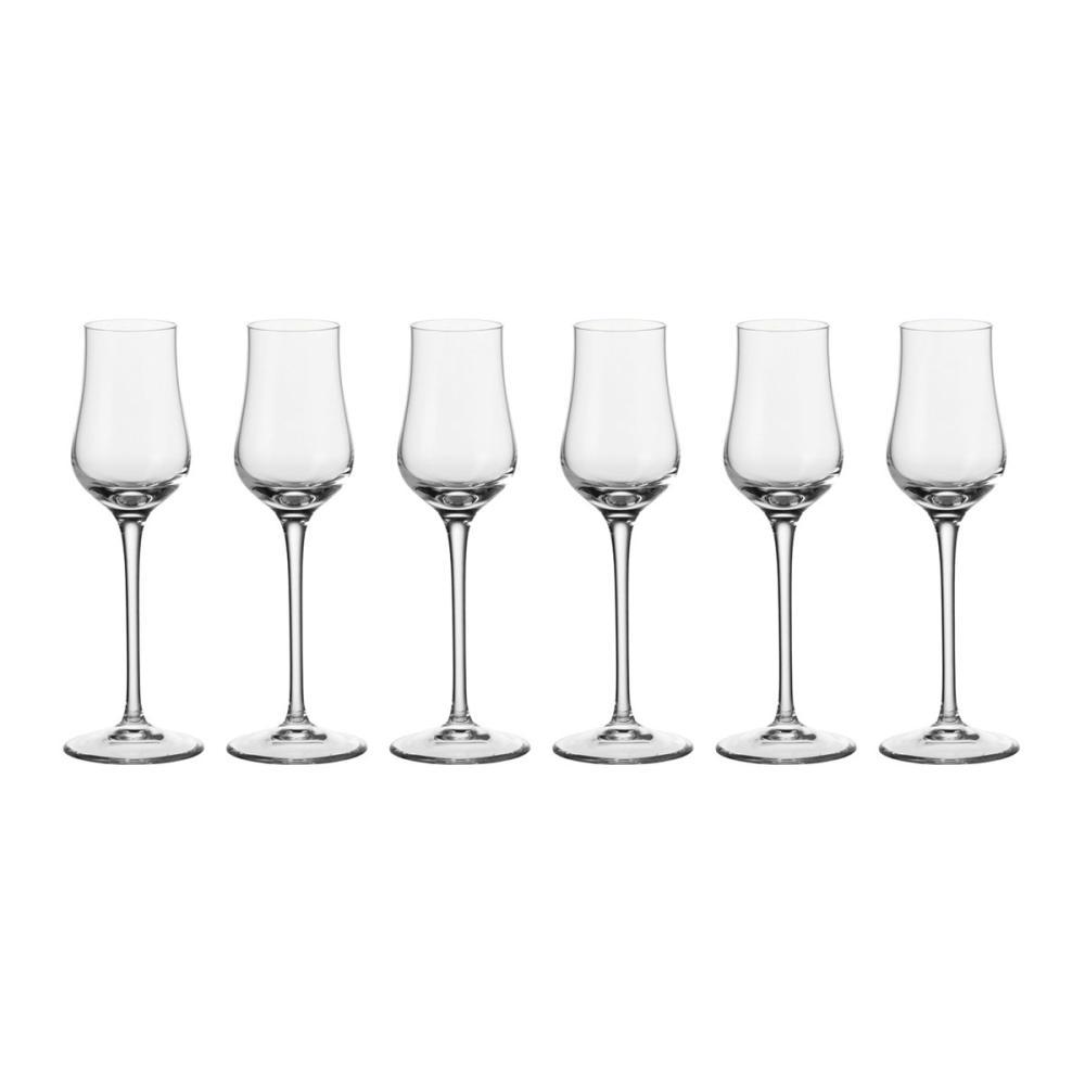 Leonardo Ciao+ Grappaglas 6er Set Schnapsglas Aperitifglas Glas Stoßfest 80 ml