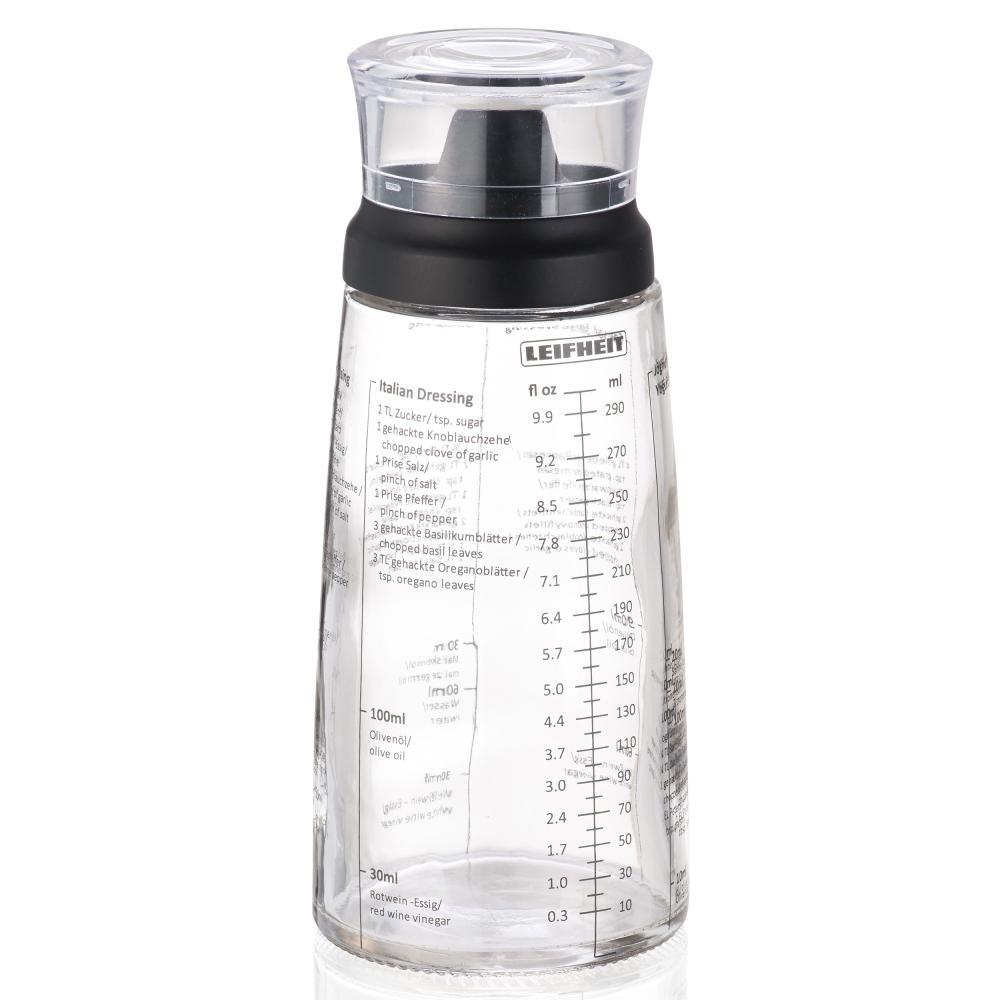 Leifheit Dressing Shaker Mixer per Condimento Insalata Graduato Vetro 300ml 3195