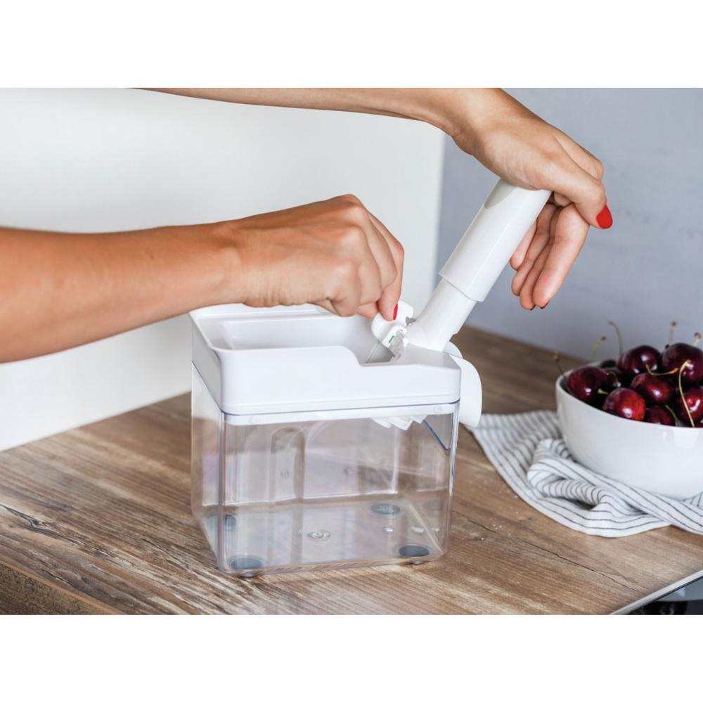 Leifheit-Denoyauteur-de-Cerises-Fruits-Professionnel-Cherrymat-Blanc-37200 miniature 4
