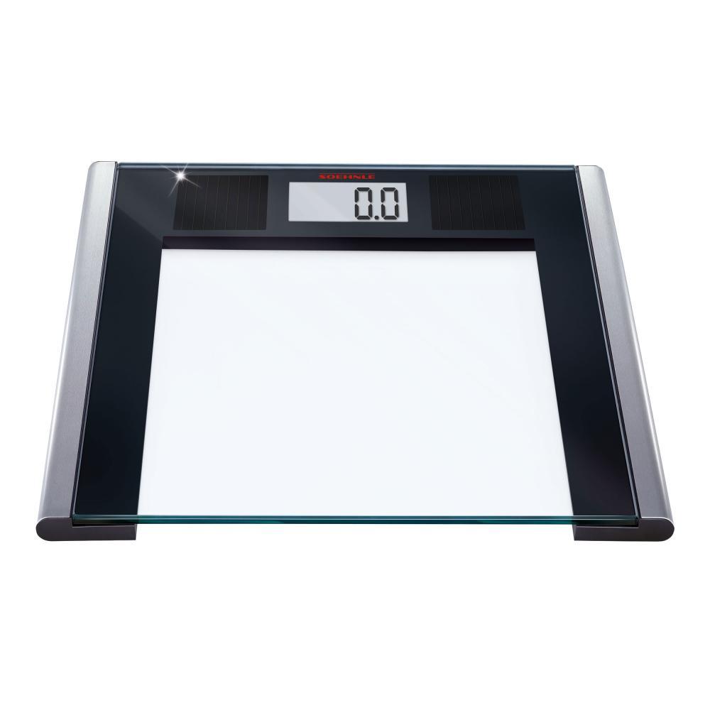 Soehnle Báscula Solar Sense, Digital, Peso con Pantalla LCD, Cristal, 150 kg.