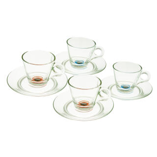 Lavazza A MODO MIO Espresso Cups, Coffee Cups, Glass, 8 Pieces, 50 ml, Set  of 4 at About-Tea de Shop