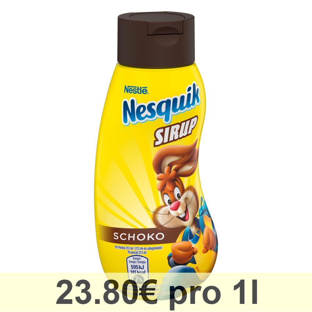 Nesquik Sirup Dose 300ml, Schokosirup für Dessert, Frühstück oder ...