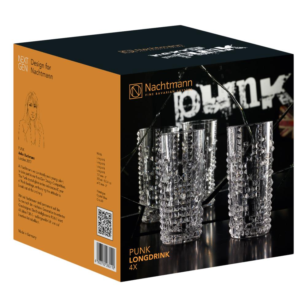 Nachtmann Punk Longdrink 4er Set Longdrinkglas Trinkglas Kristallglas 390 ml 2