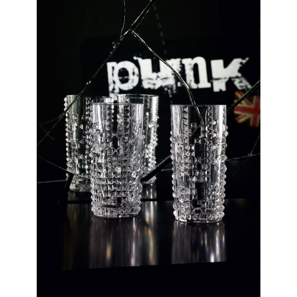 Nachtmann Punk Longdrink 4er Set Longdrinkglas Trinkglas Kristallglas 390 ml 3