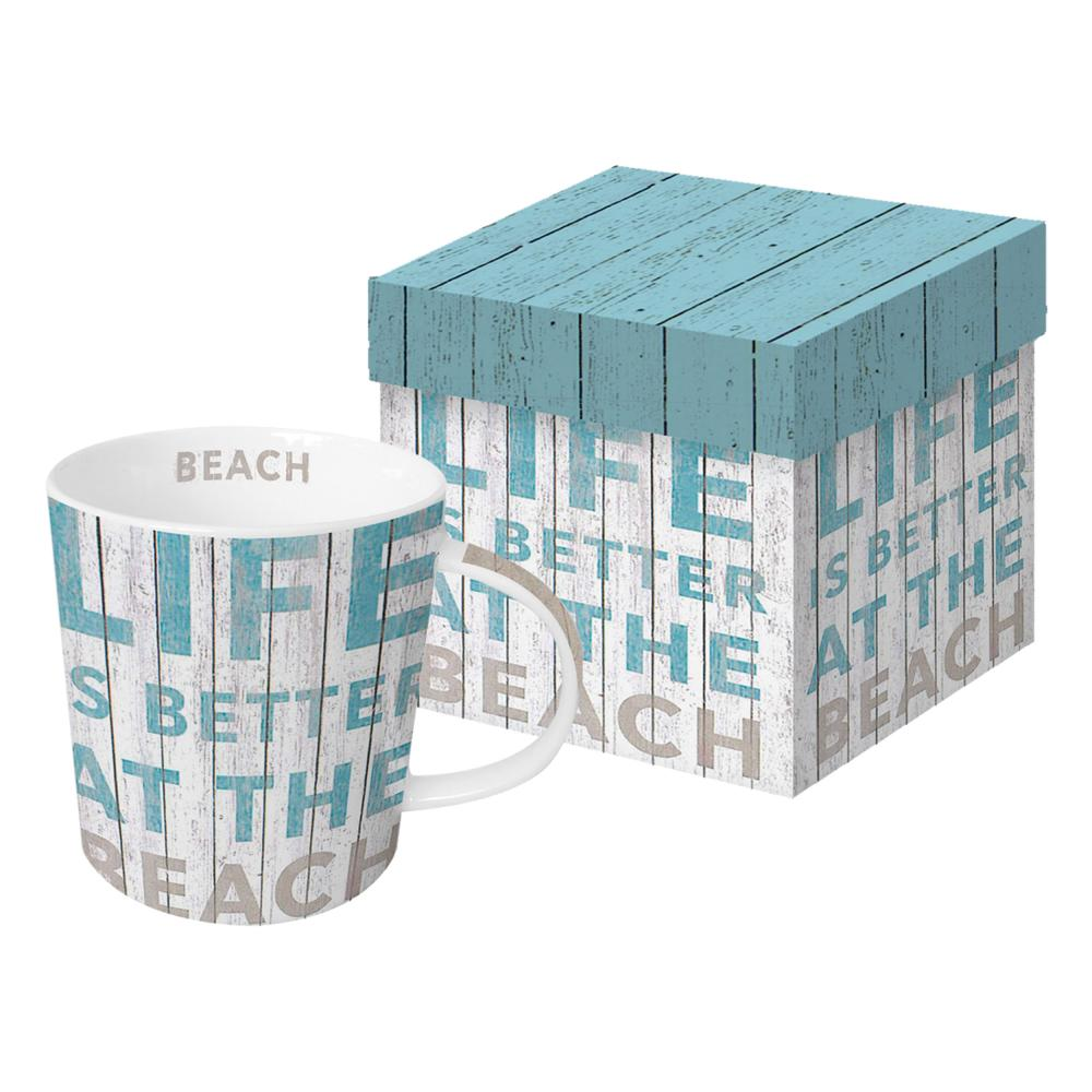 PPD-Life-Is-Better-Trend-Vaso-para-Cafe-Taza-de-Cafe-Porcelana-Azul-Gris-350-ml
