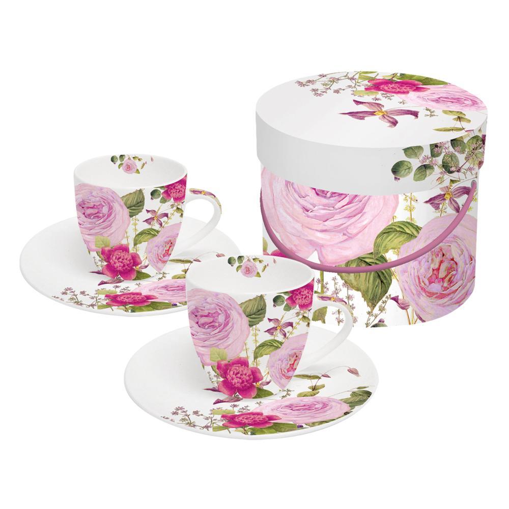 PPD-Princess-Rose-Espressotassen-Tasse-Kaffee-Becher-Untere-4-tlg-Weiss-Bunt-100