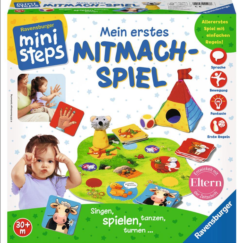 Ravensburger-ministeps-Mein-Erstes-Mitmach-Spiel-Brettspiel-Wuerfelspiel-Spiel