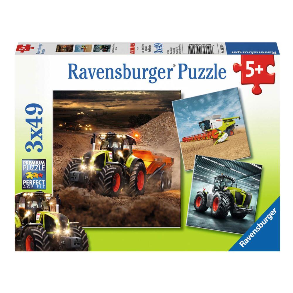 Puzzles & Geduldspiele Ravensburger Puzzle Claas Axion Lexion Xerion Kinderpuzzle Puzzlespiel 3 x 49 T.